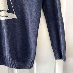 Joie Sweaters - Joie Nautical Sailboat Blue Long Sleeve Sweater